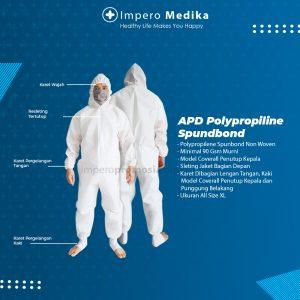APD Hazmat Coverall Polypropylene Spunbond